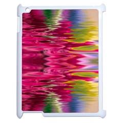 Abstract Pink Colorful Water Background Apple Ipad 2 Case (white) by Amaryn4rt