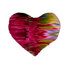 Abstract Pink Colorful Water Background Standard 16  Premium Heart Shape Cushions by Amaryn4rt