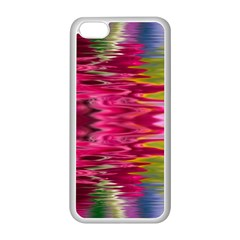 Abstract Pink Colorful Water Background Apple Iphone 5c Seamless Case (white) by Amaryn4rt