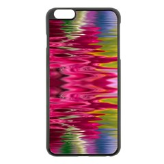 Abstract Pink Colorful Water Background Apple Iphone 6 Plus/6s Plus Black Enamel Case by Amaryn4rt