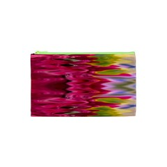 Abstract Pink Colorful Water Background Cosmetic Bag (xs) by Amaryn4rt