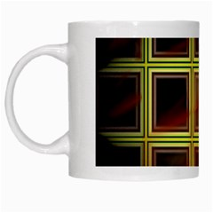 Drawing Of A Color Fractal Window White Mugs by Amaryn4rt