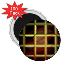Drawing Of A Color Fractal Window 2 25  Magnets (100 Pack)  by Amaryn4rt