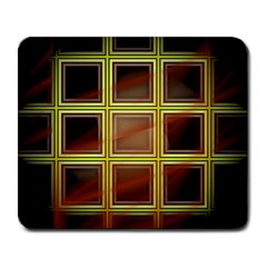 Drawing Of A Color Fractal Window Large Mousepads by Amaryn4rt