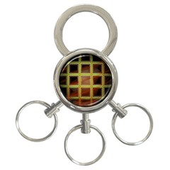 Drawing Of A Color Fractal Window 3 Ring Key Chains by Amaryn4rt