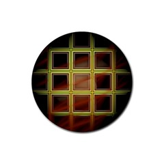 Drawing Of A Color Fractal Window Rubber Coaster (round)  by Amaryn4rt