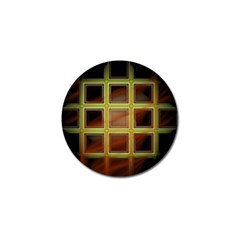 Drawing Of A Color Fractal Window Golf Ball Marker (4 Pack) by Amaryn4rt