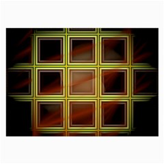 Drawing Of A Color Fractal Window Large Glasses Cloth (2 Side) by Amaryn4rt
