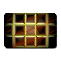 Drawing Of A Color Fractal Window Plate Mats by Amaryn4rt