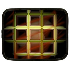 Drawing Of A Color Fractal Window Netbook Case (large) by Amaryn4rt