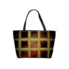 Drawing Of A Color Fractal Window Shoulder Handbags by Amaryn4rt