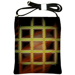 Drawing Of A Color Fractal Window Shoulder Sling Bags by Amaryn4rt