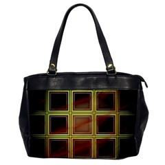 Drawing Of A Color Fractal Window Office Handbags by Amaryn4rt