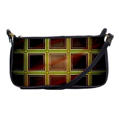 Drawing Of A Color Fractal Window Shoulder Clutch Bags by Amaryn4rt