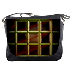Drawing Of A Color Fractal Window Messenger Bags by Amaryn4rt