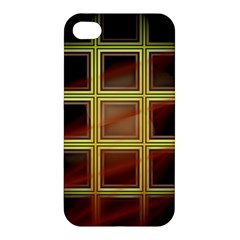 Drawing Of A Color Fractal Window Apple Iphone 4/4s Premium Hardshell Case by Amaryn4rt