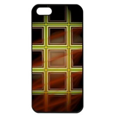 Drawing Of A Color Fractal Window Apple Iphone 5 Seamless Case (black) by Amaryn4rt