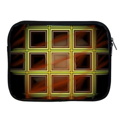 Drawing Of A Color Fractal Window Apple Ipad 2/3/4 Zipper Cases by Amaryn4rt