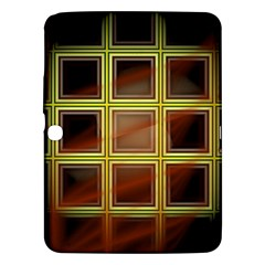 Drawing Of A Color Fractal Window Samsung Galaxy Tab 3 (10 1 ) P5200 Hardshell Case  by Amaryn4rt