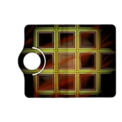 Drawing Of A Color Fractal Window Kindle Fire Hd (2013) Flip 360 Case by Amaryn4rt