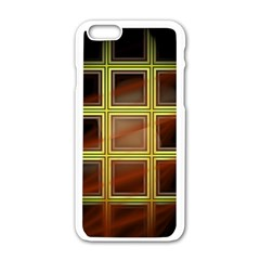 Drawing Of A Color Fractal Window Apple Iphone 6/6s White Enamel Case by Amaryn4rt