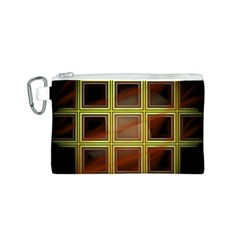Drawing Of A Color Fractal Window Canvas Cosmetic Bag (s) by Amaryn4rt