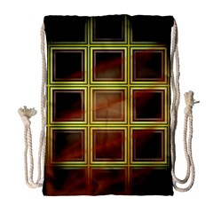 Drawing Of A Color Fractal Window Drawstring Bag (large) by Amaryn4rt