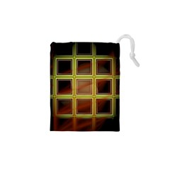 Drawing Of A Color Fractal Window Drawstring Pouches (xs)  by Amaryn4rt