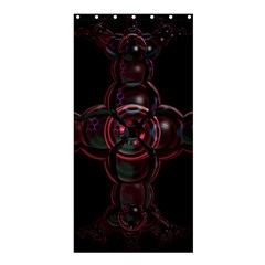 Fractal Red Cross On Black Background Shower Curtain 36  X 72  (stall)  by Amaryn4rt