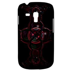 Fractal Red Cross On Black Background Galaxy S3 Mini by Amaryn4rt
