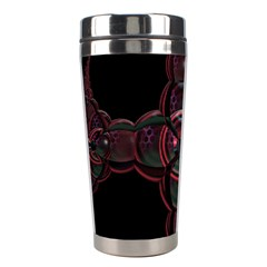 Fractal Red Cross On Black Background Stainless Steel Travel Tumblers by Amaryn4rt