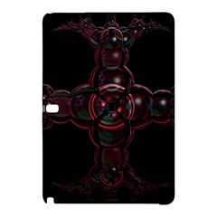 Fractal Red Cross On Black Background Samsung Galaxy Tab Pro 12 2 Hardshell Case by Amaryn4rt