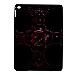 Fractal Red Cross On Black Background Ipad Air 2 Hardshell Cases by Amaryn4rt