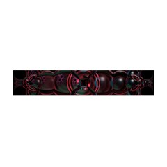 Fractal Red Cross On Black Background Flano Scarf (mini) by Amaryn4rt