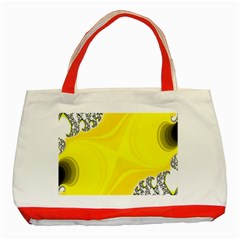Fractal Abstract Background Classic Tote Bag (red) by Amaryn4rt