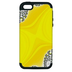 Fractal Abstract Background Apple Iphone 5 Hardshell Case (pc+silicone) by Amaryn4rt