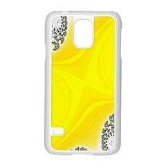 Fractal Abstract Background Samsung Galaxy S5 Case (white) by Amaryn4rt