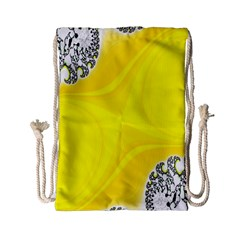Fractal Abstract Background Drawstring Bag (small) by Amaryn4rt