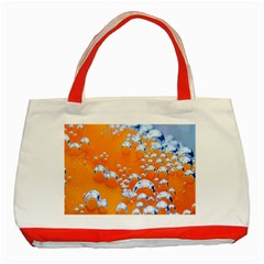 Bubbles Background Classic Tote Bag (red) by Amaryn4rt