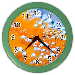 Bubbles Background Color Wall Clocks by Amaryn4rt