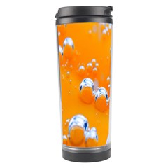 Bubbles Background Travel Tumbler by Amaryn4rt