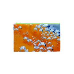 Bubbles Background Cosmetic Bag (xs) by Amaryn4rt