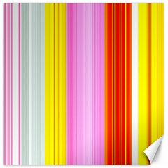 Multi Colored Bright Stripes Striped Background Wallpaper Canvas 12  X 12   by Amaryn4rt