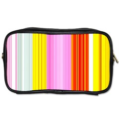 Multi Colored Bright Stripes Striped Background Wallpaper Toiletries Bags by Amaryn4rt