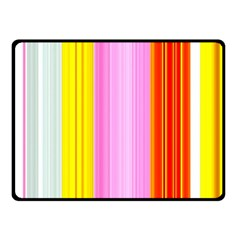 Multi Colored Bright Stripes Striped Background Wallpaper Fleece Blanket (small) by Amaryn4rt