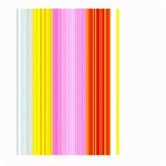 Multi Colored Bright Stripes Striped Background Wallpaper Large Garden Flag (two Sides) by Amaryn4rt