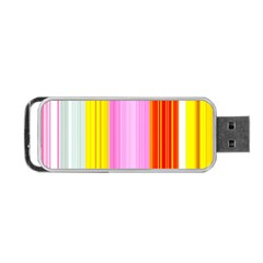 Multi Colored Bright Stripes Striped Background Wallpaper Portable Usb Flash (one Side) by Amaryn4rt