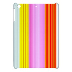 Multi Colored Bright Stripes Striped Background Wallpaper Apple Ipad Mini Hardshell Case by Amaryn4rt