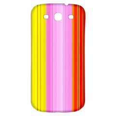 Multi Colored Bright Stripes Striped Background Wallpaper Samsung Galaxy S3 S Iii Classic Hardshell Back Case by Amaryn4rt