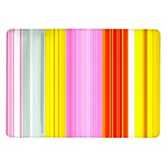 Multi Colored Bright Stripes Striped Background Wallpaper Samsung Galaxy Tab 10 1  P7500 Flip Case by Amaryn4rt